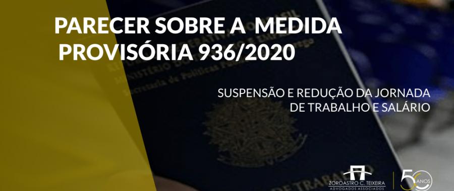 PARECER SOBRE A MEDIDA PROVISÓRIA 936/2020